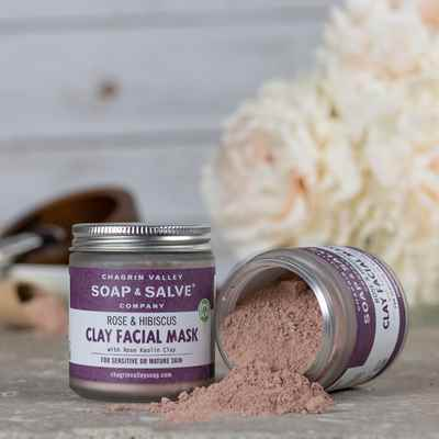 Clay Face Mask: Rose & Hibiscus