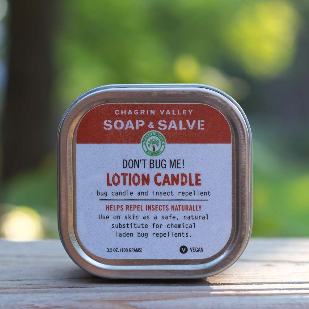 Natural Bug Repellent Lotion Candle Front