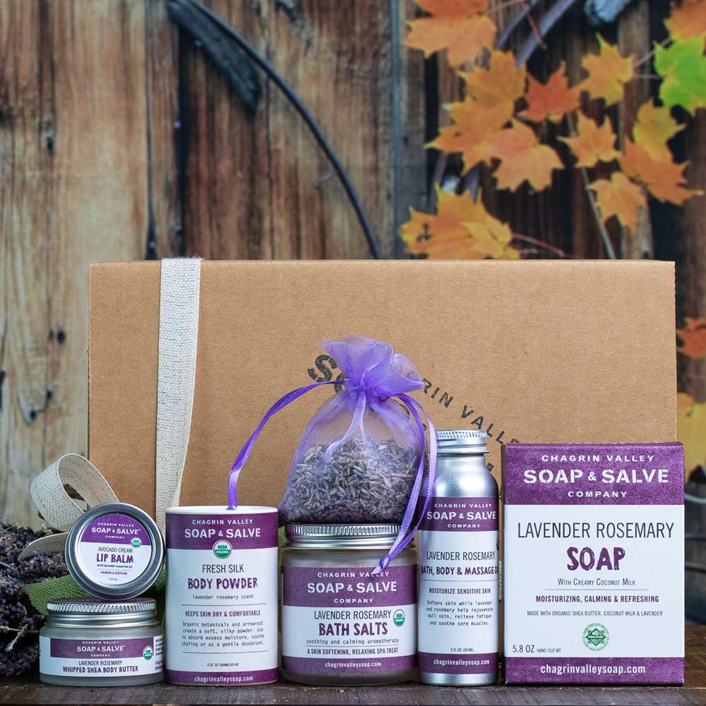 Natural Organic Skin Care Lavender Gift