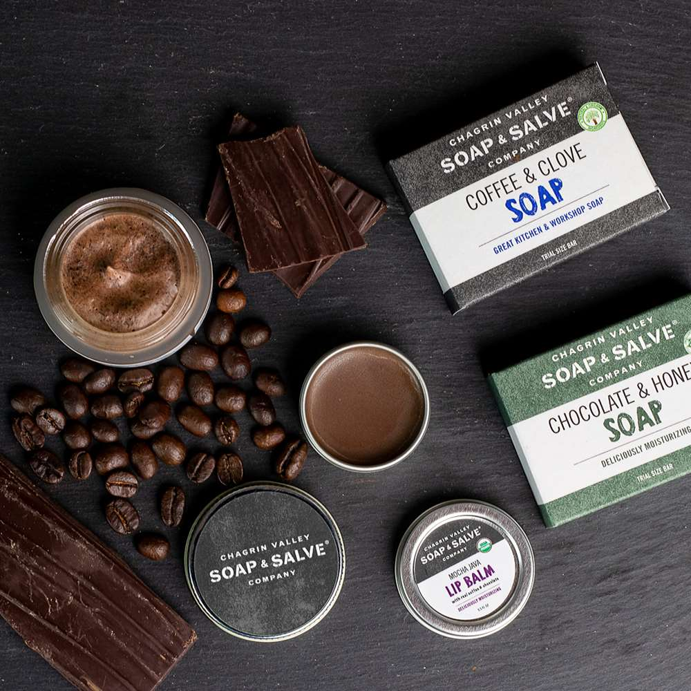 Coffee and Chocolate Natural Skin Care Gift