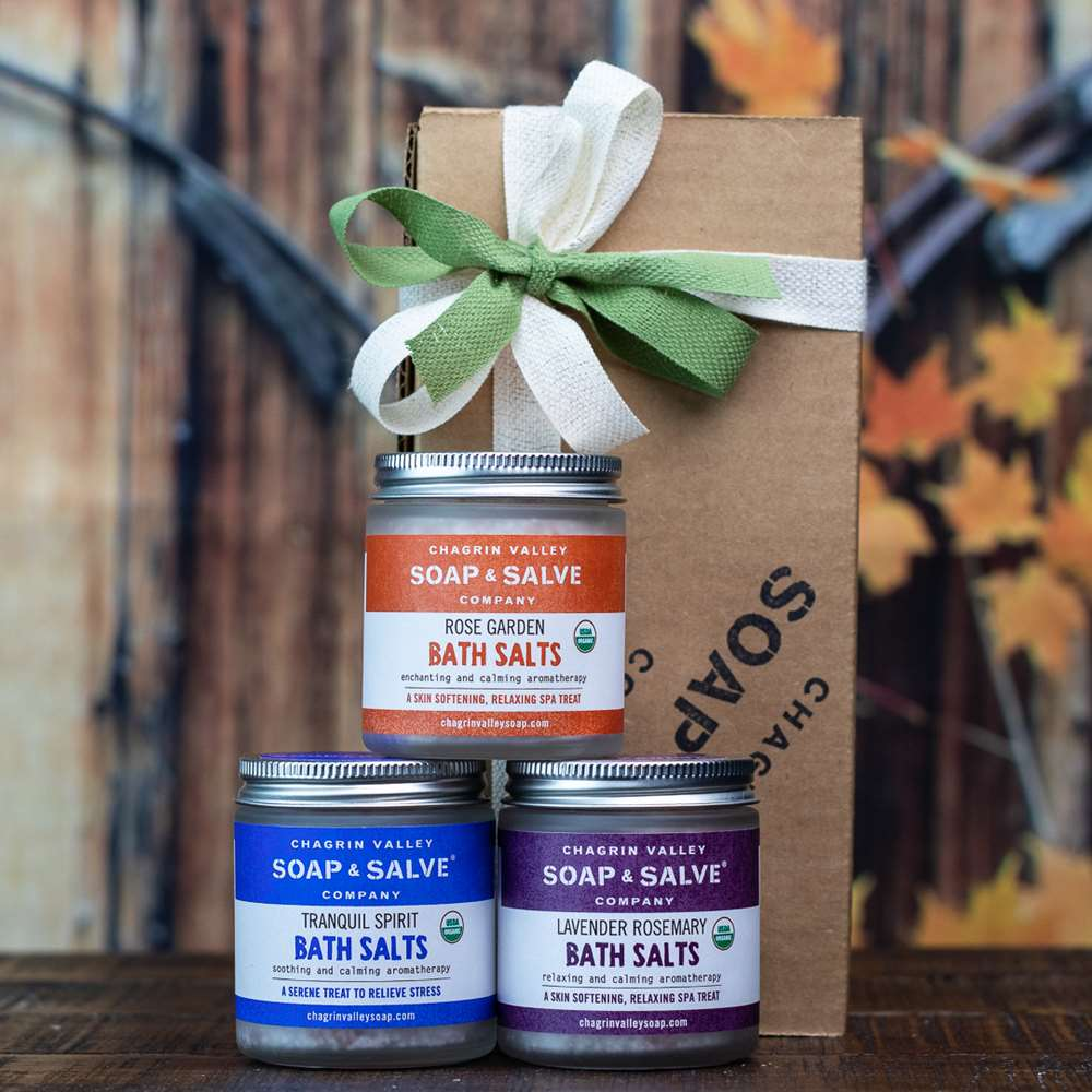 Natural Bath Salts Sampler Gift Set