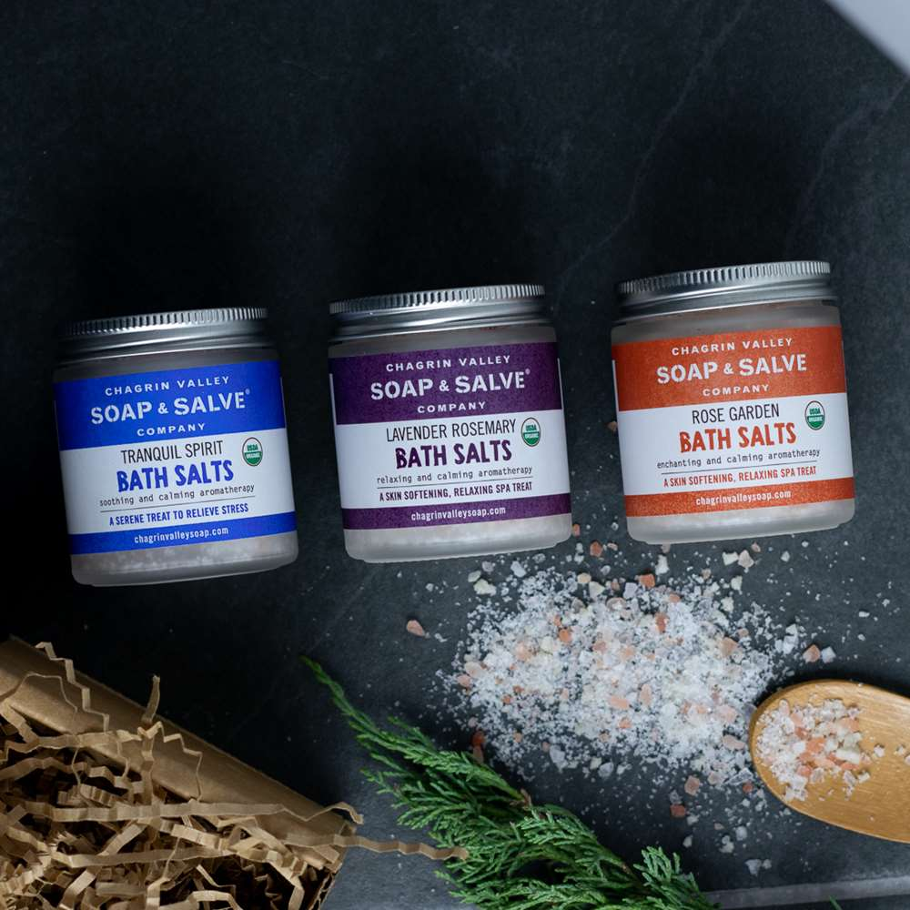 Organic Bath Salt Sampler Gift Set - Three Jars