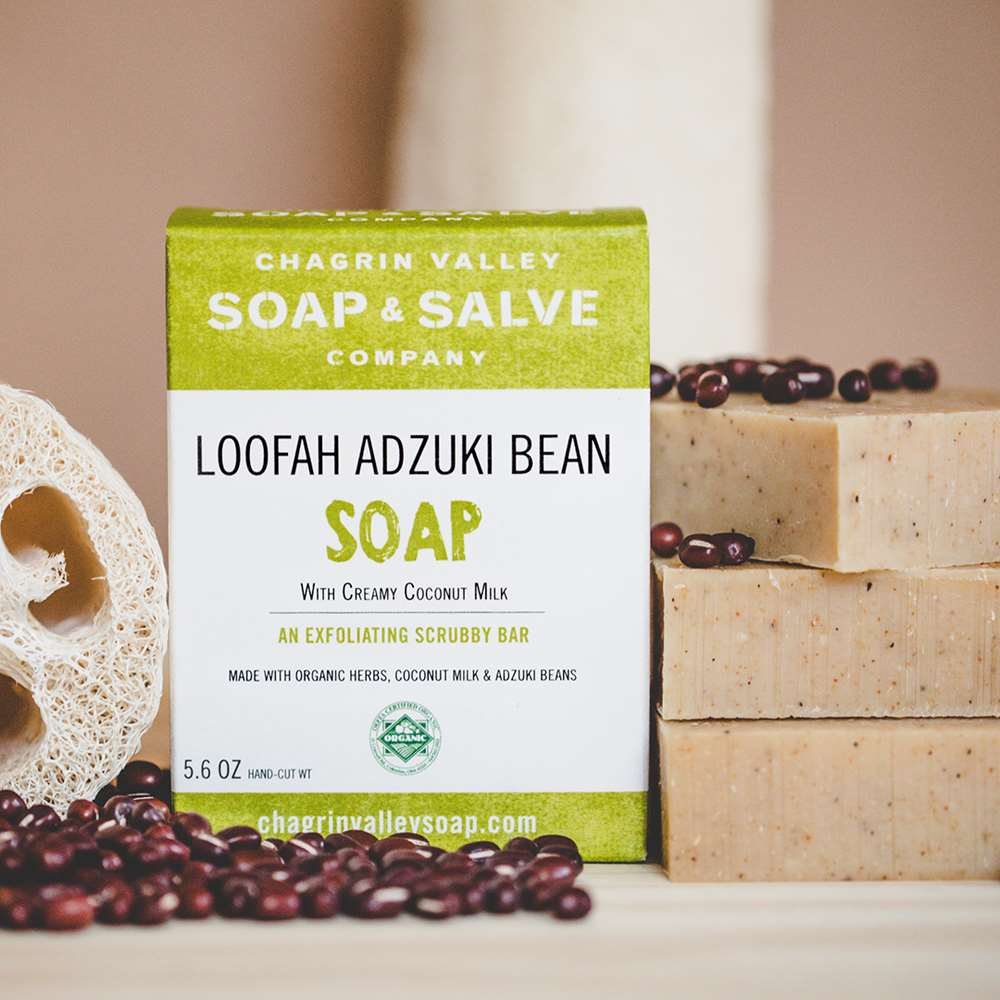 Natural Loofah Adzuki Bean Exfoliating Soap