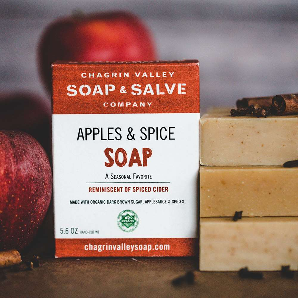 Natural Organic Apples and Spice Seasonal Soap
