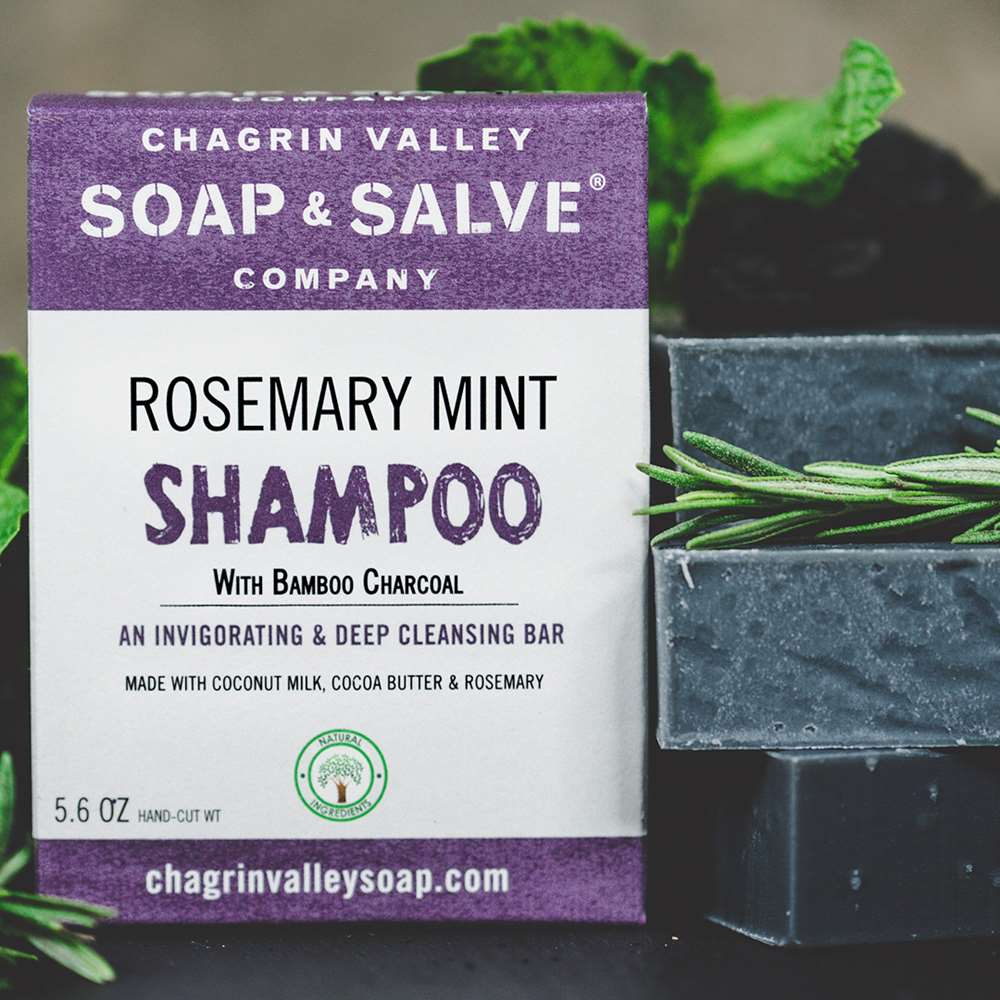 Natural Rosemary Bamboo Charcoal Shampoo Bar
