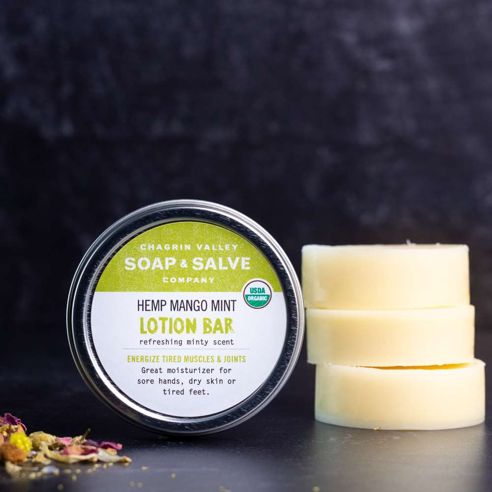 Organic Hemp Mango Mint Lotion Bar - 1 oz Tin